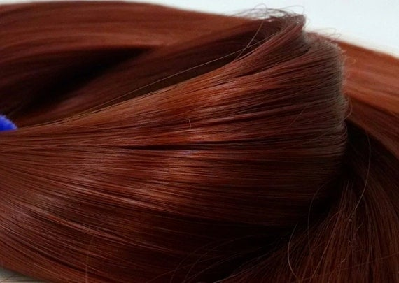 Rogue Auburn Red Nylon Doll Hair Rerooting Hank for My Little Pony, Barbie, Fashion Royalty, Crissy Sindy, Blythe, Monster High, Ever After