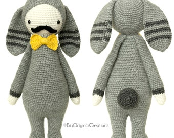 Adam The Rabbit Beau Gosse - Amigurumi Crochet - inspired model Lalylala