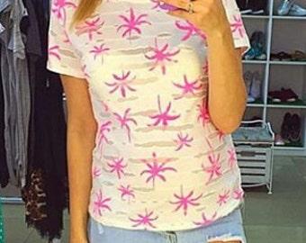 Pink palms T-Shirt