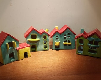 Country Cottage, Small House, Ceramic House, Miniature House,
