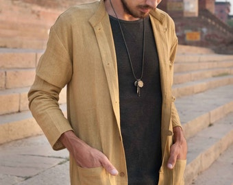 Natural Khadi Shirt/ Jacket