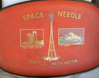 Vintage Seattle Space Needle Tray