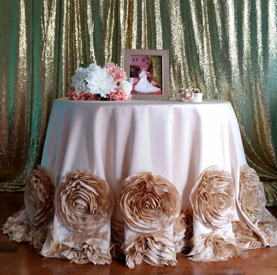 Rosette Tablecloth Rose Tablecloth Champagne Rosette