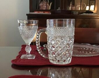 Mt. Vernon-Clear by Cambridge Vintage Wine Glass