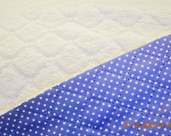 Quilt Teddy blue with dots