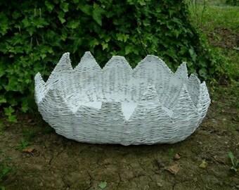 Photography prop basket Wicker paper basket