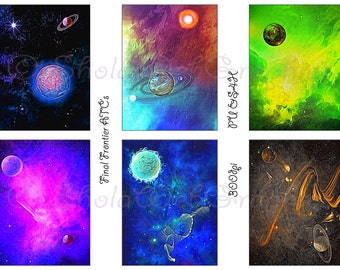 Final Frontier - Space ATC Cards (PU,S4H) Scrapbook