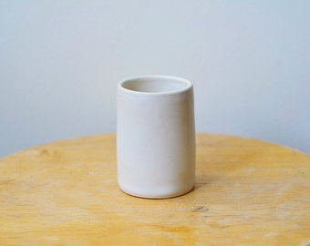 Espresso Cup, White Pottery Cup, Coffee Cup, Wheel Thrown Pottery