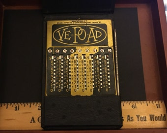 Vintage Vest-Pocket Adding Machine 1930s, Reliable Typewriter and Adding Machine Co.