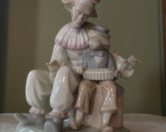 Friendly Clown Figurine by Paul Sebastian/retro figurine/clown statue/clown art/clown decor glazed glossy finish/baby nursery decor