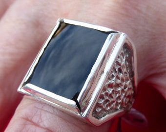Mens ring, Sterling silver
