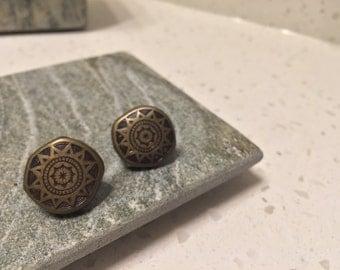 Mayan Sun Dial Earrings