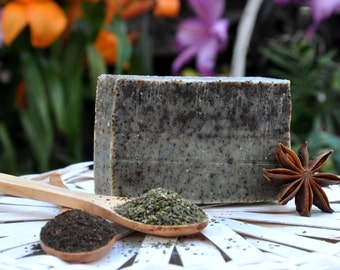 Green Tea, Anise and Black Tea Natural Soap