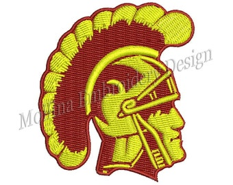 USC Trojans Logo Machine Embroidery Design 5 Size