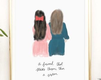 Best friends Printable artwork print / 8x10 / 5x7 / 4x6 / instant download