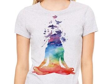 Yoga t shirt | Etsy