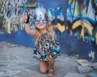 Avengers Inspired TOP Birthday Shirt Little Girl Toddler Marvel Superhero NEW SIZES 3M-5 Captain America Hulk Iron Man Thor Spider Man