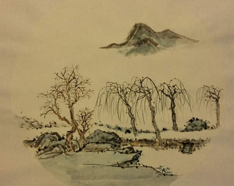 Traditional Chinese Painting, Original Painting, Ink Painting, Landscape Painting