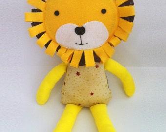 Lion Fabric Doll, Lion Doll, Lion Softie, Lion Baby