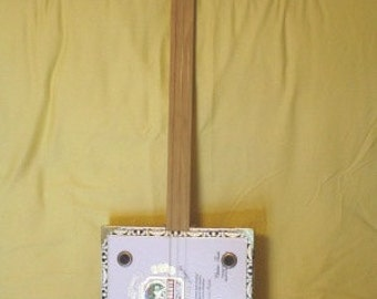 Cardboard Cigar Box 3 string guitar
