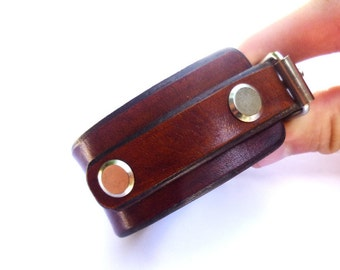 Brown bracelet Men gift leather Leather bracelet men Bracelet for him leather cuff men Brown cuff bracelet Men bangle leather Strap bracelet