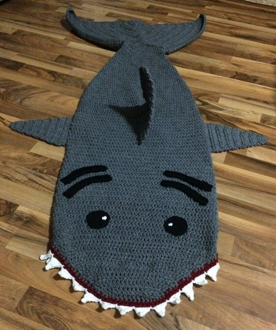 Knitting Pattern Shark Sleeping Bag : Crochet Shark Sleep Sack Pattern