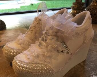 Bridal plataform sneakers