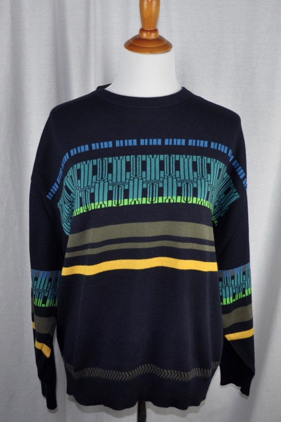 Vintage 90s Hugo Boss Geometric Sweater Sz L