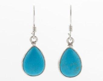 Turquoise Earrings - Silver Earrings - Dangle & Drop Earrings - Gemstone Earrings - TURQUOISE Silver Earrings - Handmade Earrings