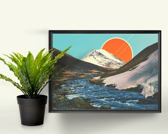 The Perfect Scene - A4 Graphic Print. A Perfect Gift for the Home. Photographic Art Design.
