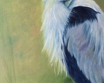 12x24 Blue Heron