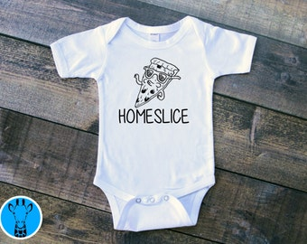 Home Slice Pizza Baby Bodysuit, Funny Baby Bodysuit, Funny Baby Onsie, Pizza Bodysuit, Pizza Baby Clothes, Pizza Onsie, Baby Shower Gift