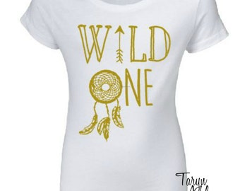 Wild One Scoop Neck Tshirt