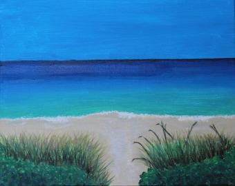 Beach Walkway, Hand painted, Ocean Scene
