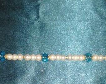 Pearl, Emerald bracelet
