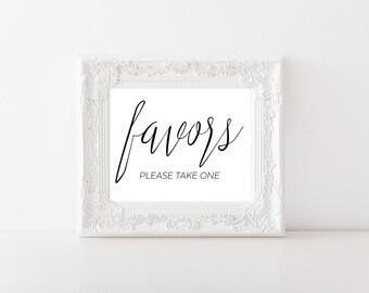Wedding Favor Sign - Bridal Shower Favor Sign - Wedding Printable Sign - Wedding Print - Wedding Signage - Please Take One Sign