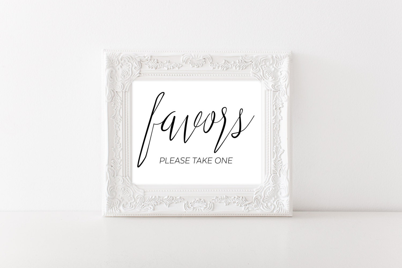 Wedding Favor Sign - Bridal Shower Favor Sign - Wedding Printable ...
