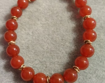 Carnelian bracelet with gold filled findings.