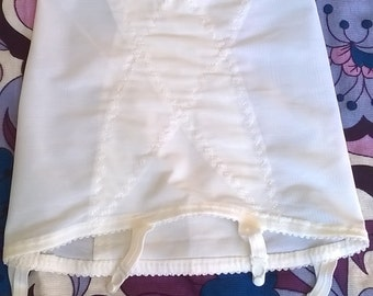 Vintage Girdle With Four Garters Open Bottom Girdle Foundation Wear Vintage Lingerie Shapewear Size Small
