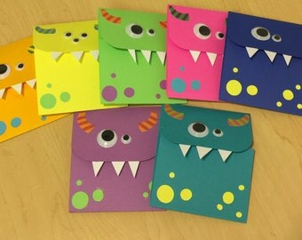 Monster cards-Assorted neon colors