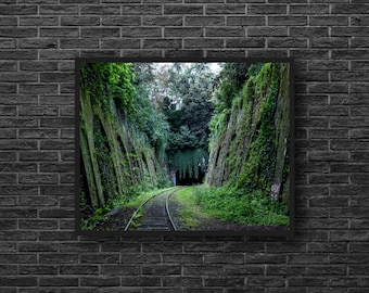 Railway Photo - Railroad Photo - Rail Photo - Road Photo - Green - Road Photography - Train Way Photo - Wall Art - Wall Decor - Photography