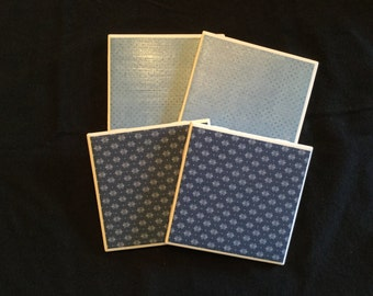 Blue Coasters (set of 4)
