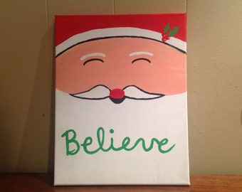 Jolly Old Saint Nick Canvas Painting