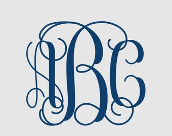 Interlocking Vine Monogram, SVG  Monogram Font, Vine Monogram Font, Studio3 file, MACOSX file,  Cricut Cut Files, Silhouette Cut Files