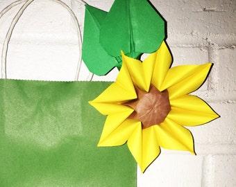 Paper Sunflower Origami Clip