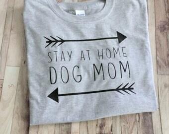 Stay At Home Dog Mom - Womens Shirt - Tribal Dog Shirt