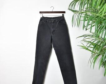Vintage High Waisted Wrangler Black Jeans