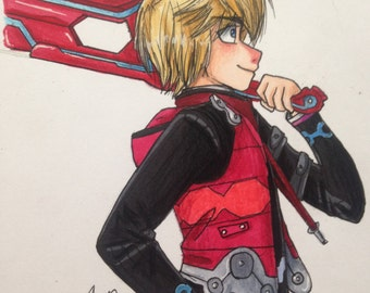 Xenoblade Chronicles Shulk character profile print