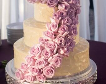 Bling Cake Stand 18 inch, Swarovski cake stand, Bling cake plateau,  Swarovski cake plateau, Rhinestone cake stand, Rhinestone cake plateau