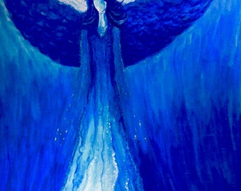 Water Angel original acrylic painting